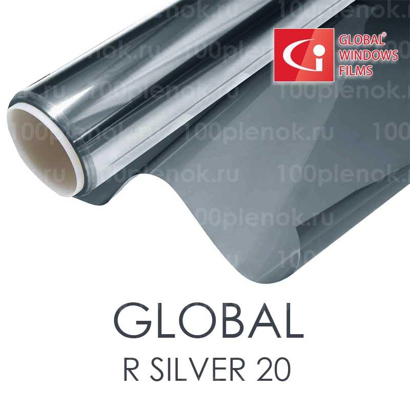 Зеркальная тонировочная пленка Global R Silver 20 (1,83m) 1