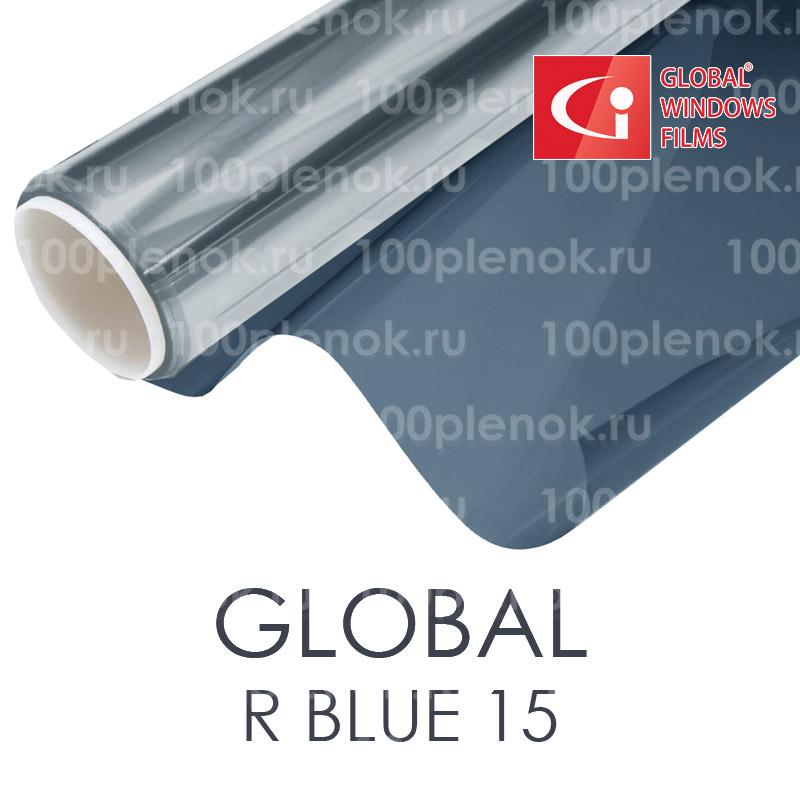Зеркальная тонировочная пленка Global R Blue 15 (1,83m) 1